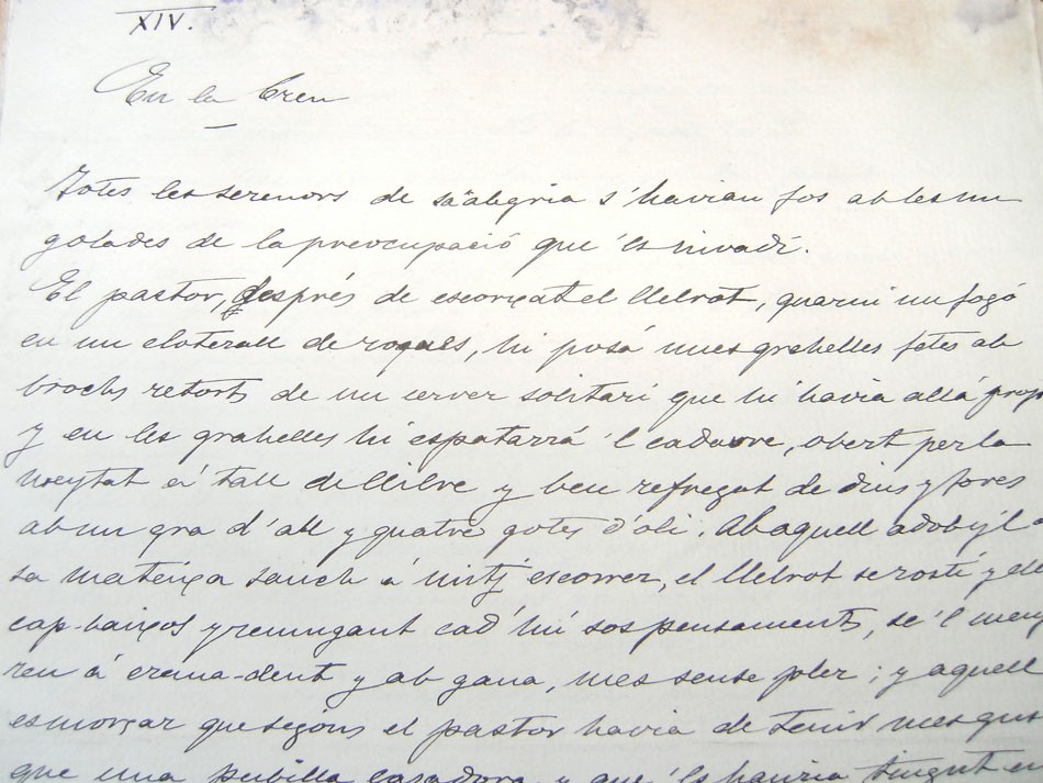 Manuscrit de Caterina Albert